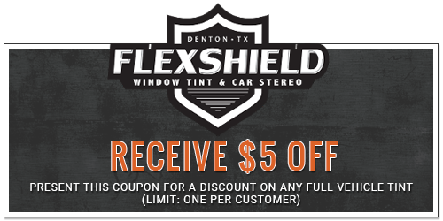 $5 Off - Present This Coupon for a Discount on Any Full Vehicle Tint (Limit: One per Customer)