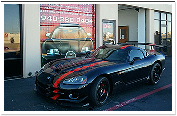 Black Sporty Car with Tinted Windows